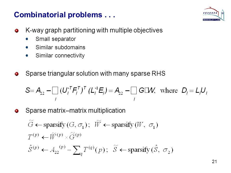 Combinatorial problems...