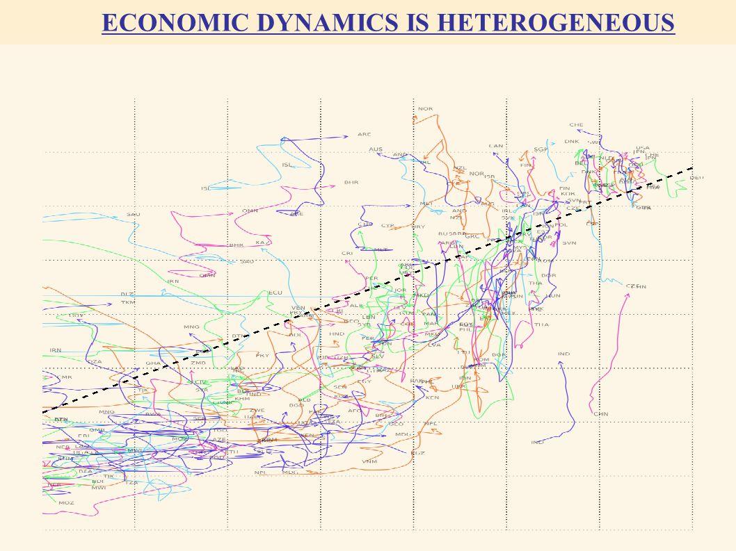 ECONOMIC DYNAMICS IS HETEROGENEOUS