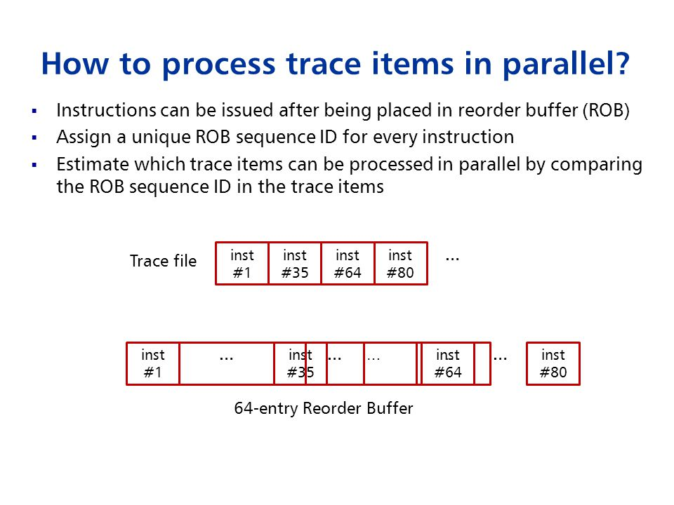 How to process trace items in parallel.