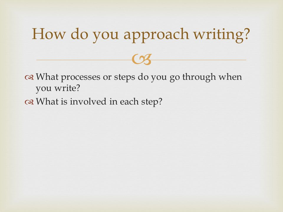   Prewriting  Drafting  Revising  Editing  Publishing The Writing Process
