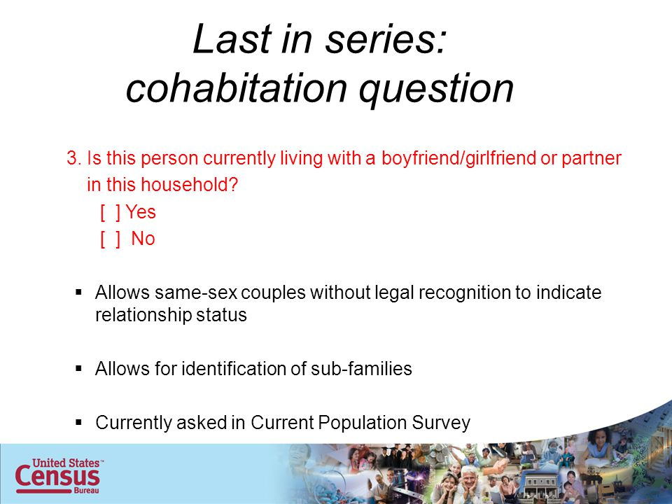 Last in series: cohabitation question 3.