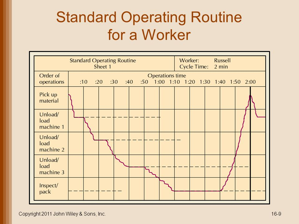 Standard Operating Routine for a Worker Copyright 2011 John Wiley & Sons, Inc.16-9