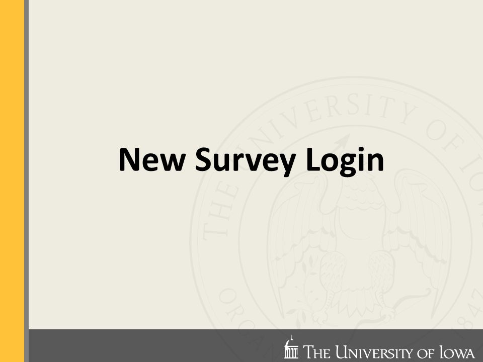 New Survey Login