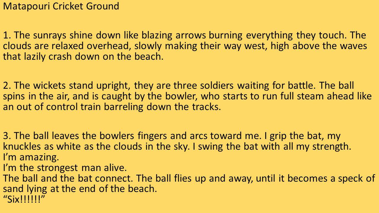 Matapouri Cricket Ground 1.