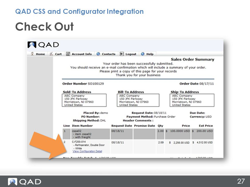 Check Out QAD CSS and Configurator Integration 27