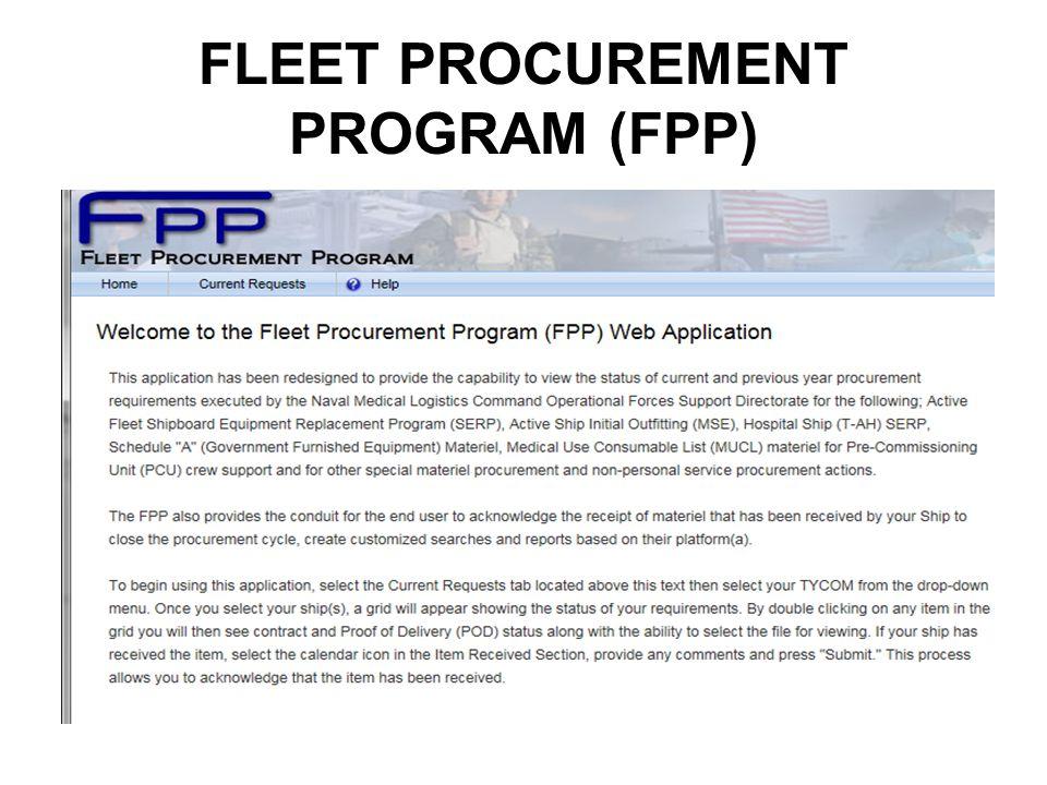 FLEET PROCUREMENT PROGRAM (FPP)