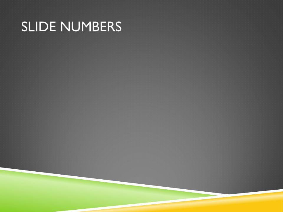SLIDE NUMBERS