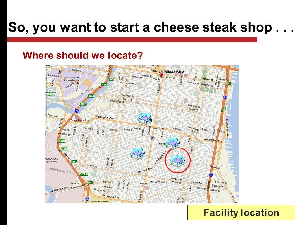 Cheese Steak shop.... Predict steak sales? Forecasting