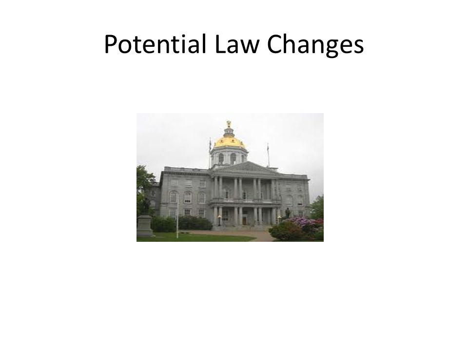 Potential Law Changes