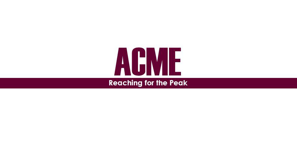 ACME Reaching for the Peak
