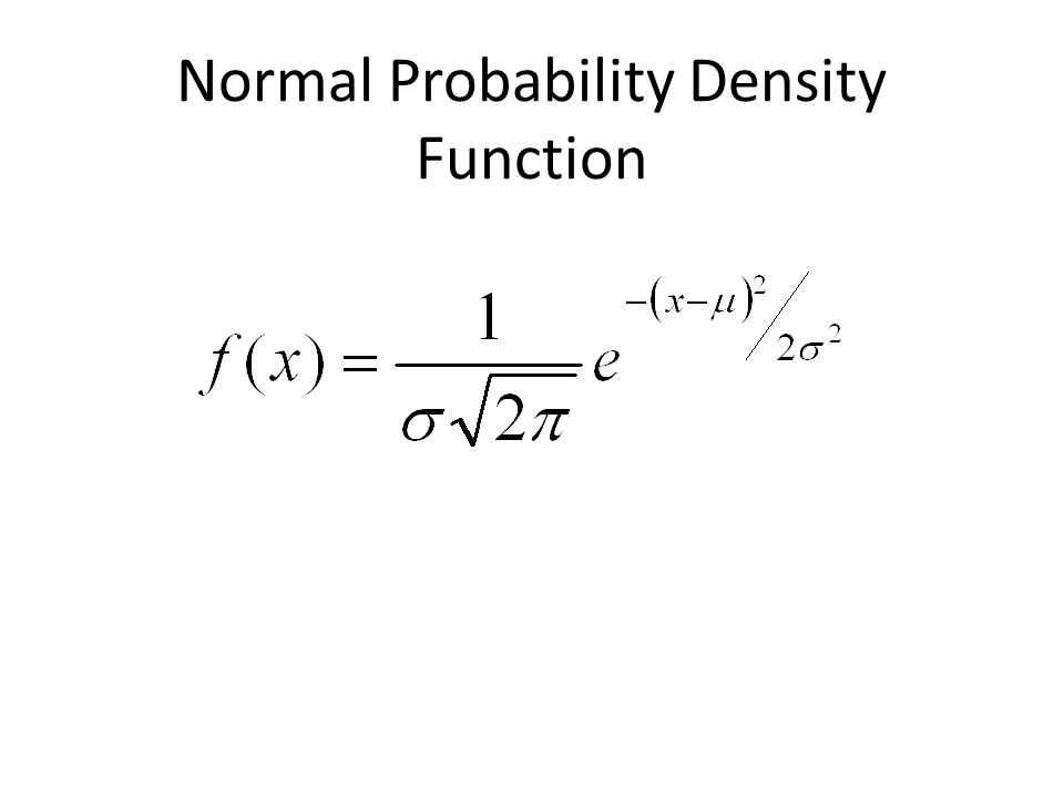 Normal Probability Density Function