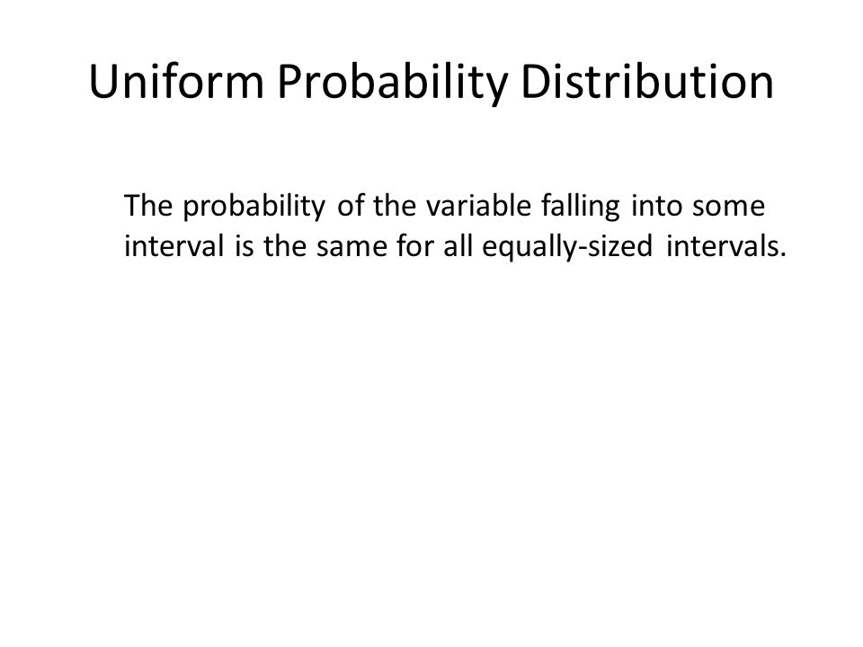 Uniform Probability Density Function
