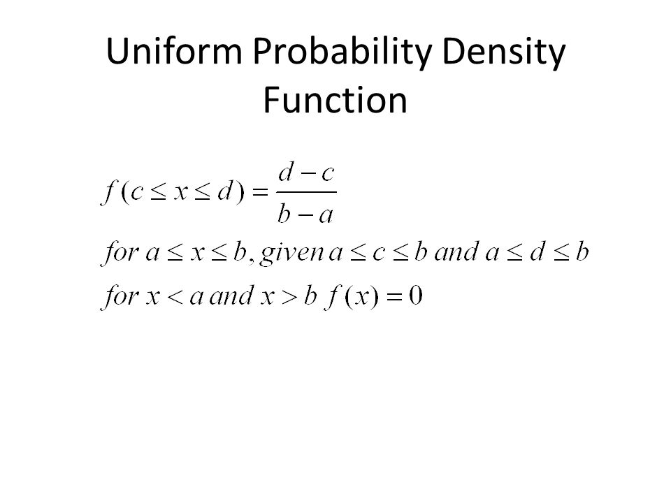 Mean and Variance of a Uniform Distribution