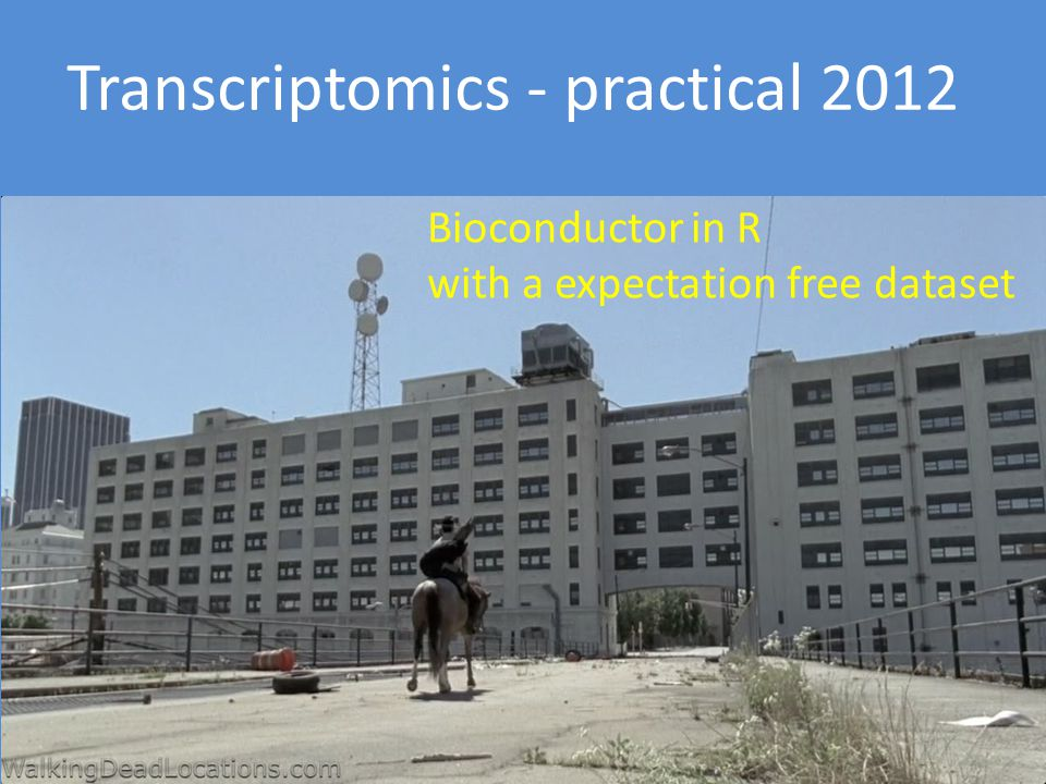 Bioconductor in R with a expectation free dataset Transcriptomics - practical 2012