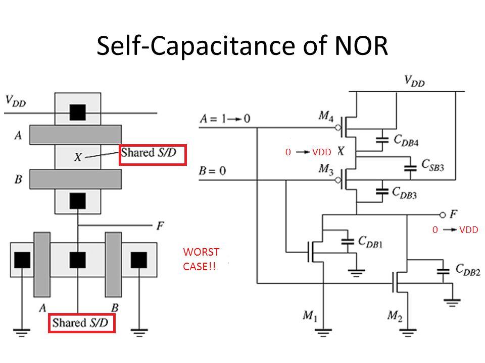 Self-Capacitance of NOR WORST CASE!!