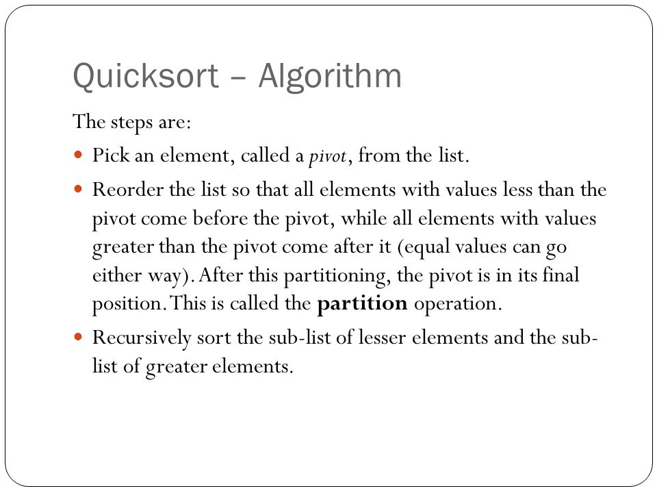 Quicksort - Example