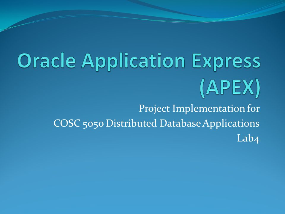 Project Implementation for COSC 5050 Distributed Database Applications Lab4
