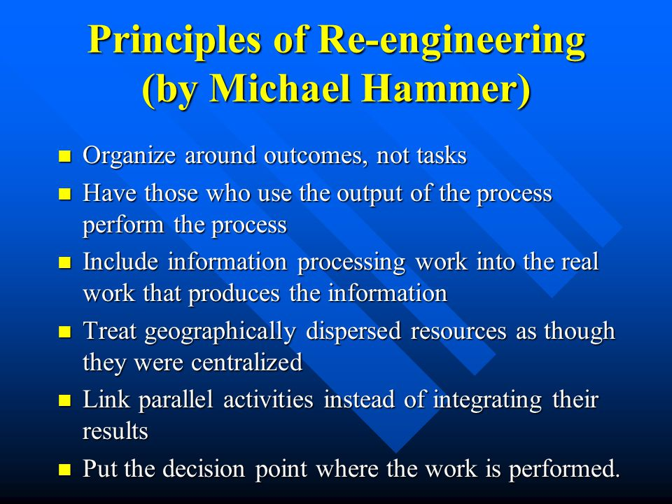What is Business Process and Business Reengineering.