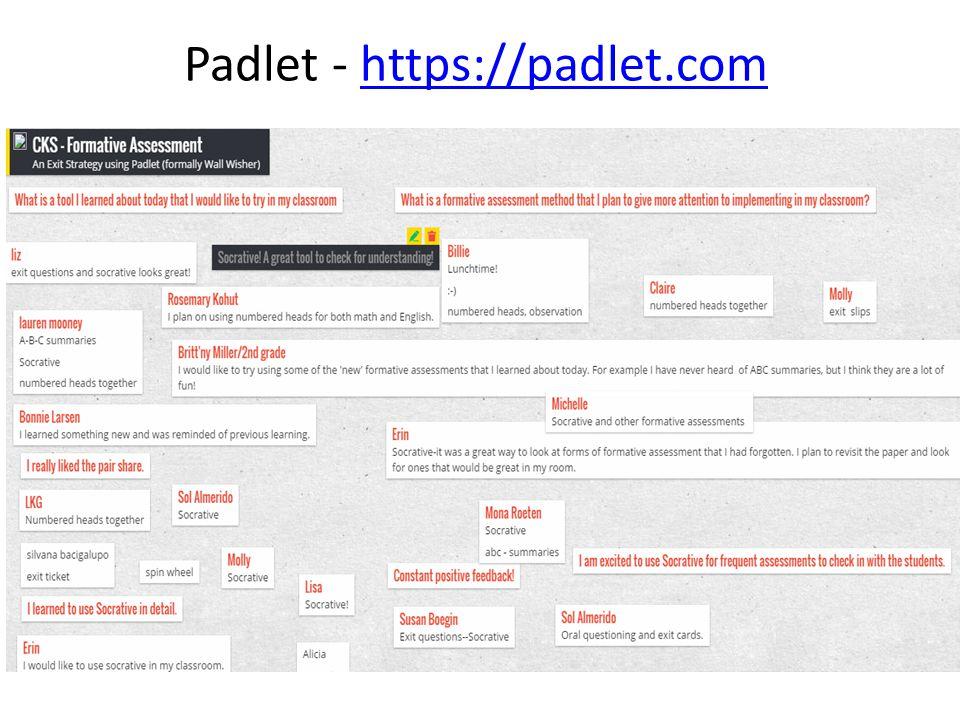 Padlet - https://padlet.comhttps://padlet.com