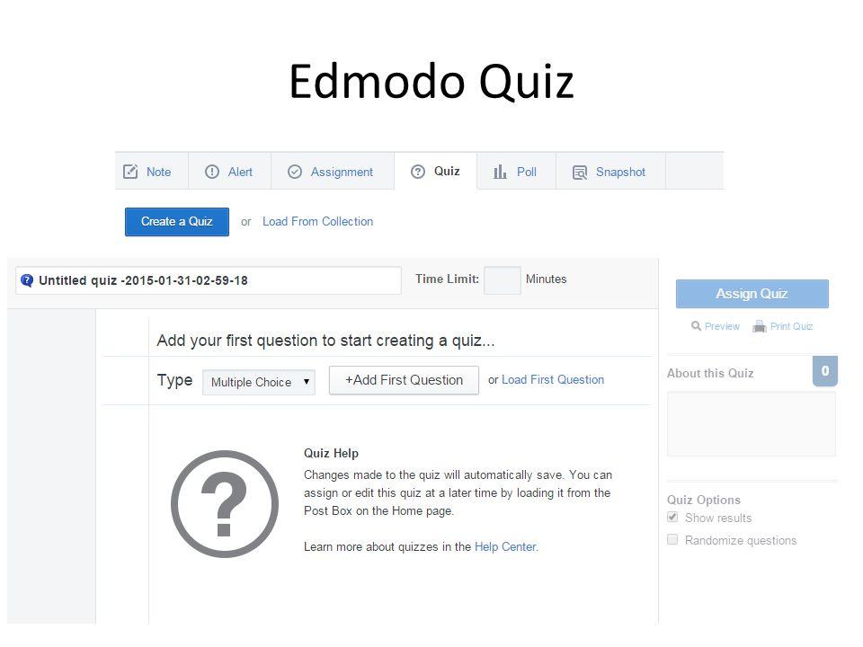 Edmodo Quiz