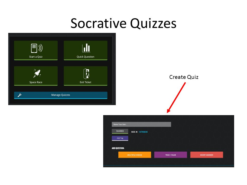 Socrative Quizzes Create Quiz