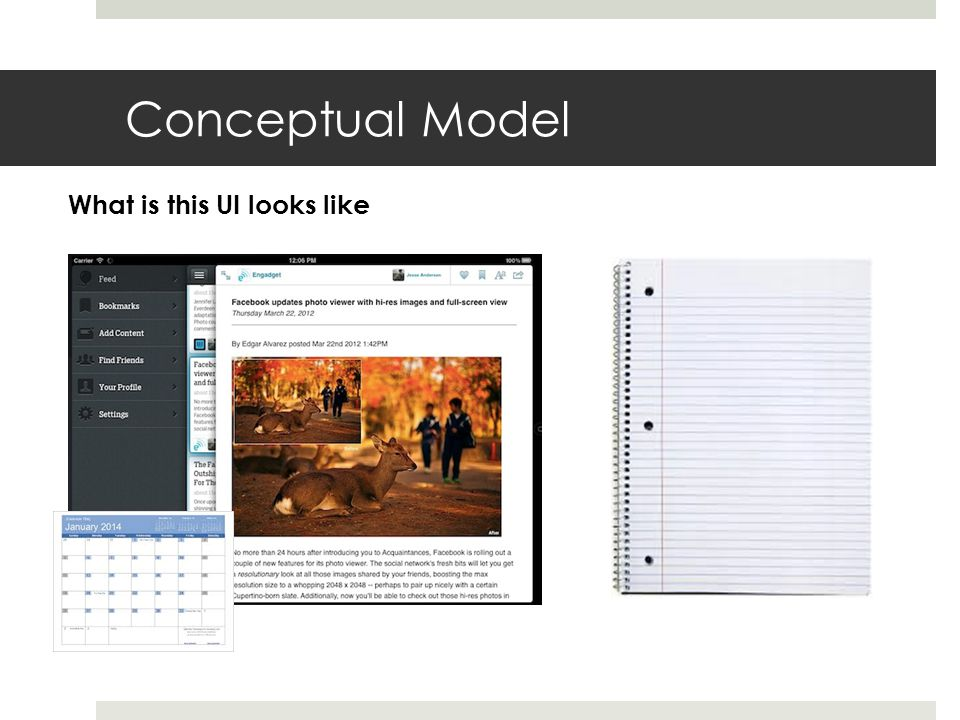 Conceptual Model What is this UI looks like
