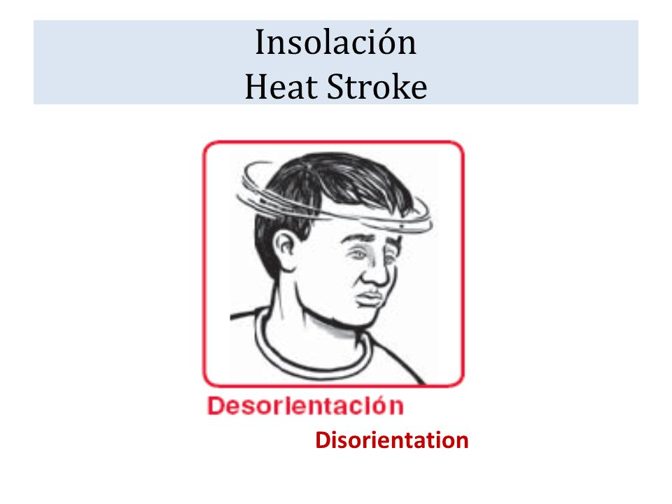 Insolación Heat Stroke Disorientation