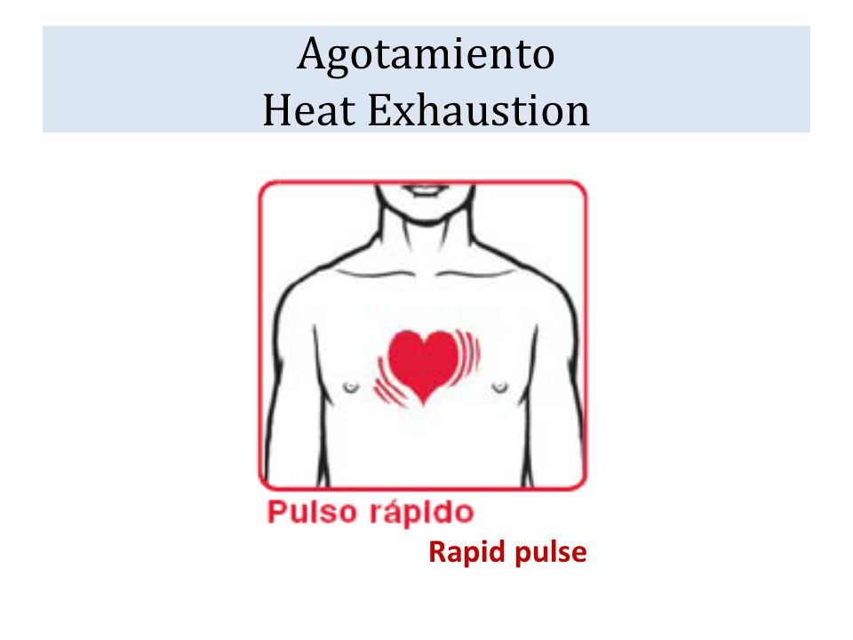Agotamiento Heat Exhaustion Rapid pulse
