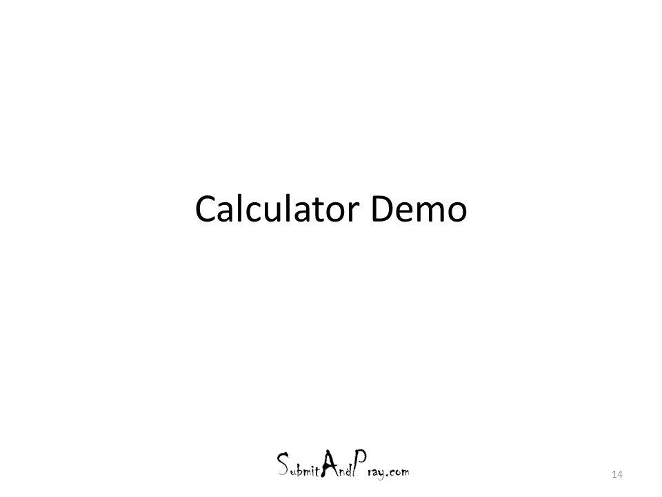 Calculator Demo 14