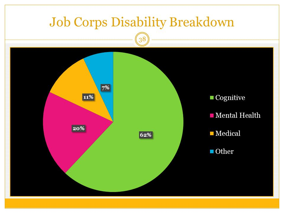 Job Corps Disability Breakdown 38