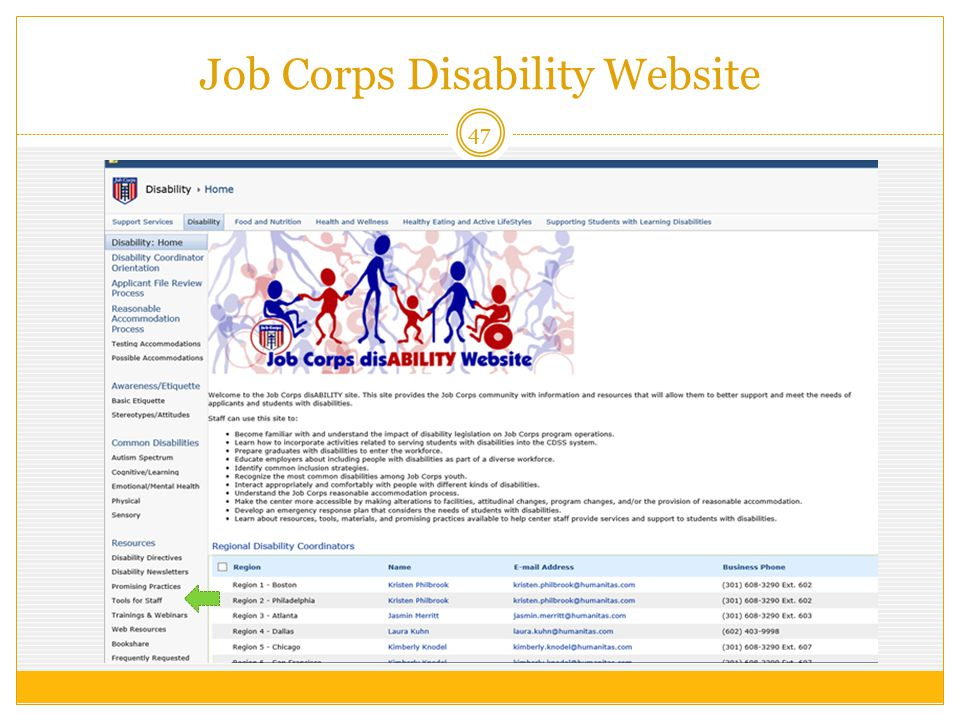 Job Corps Disability Website 47