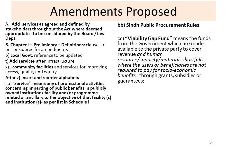 Amendments Proposed A.