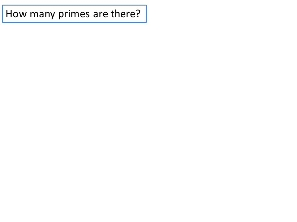 How many primes are there