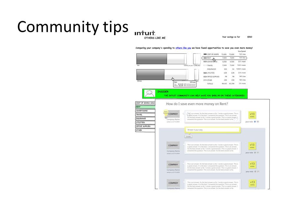 Community tips