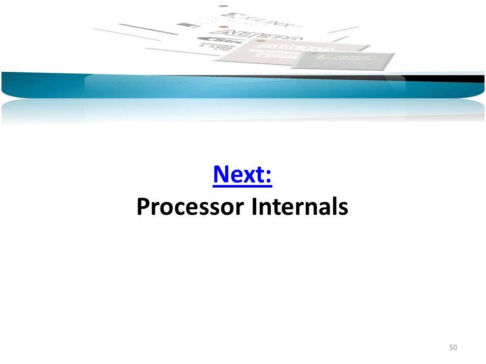 Next: Next: Processor Internals 50