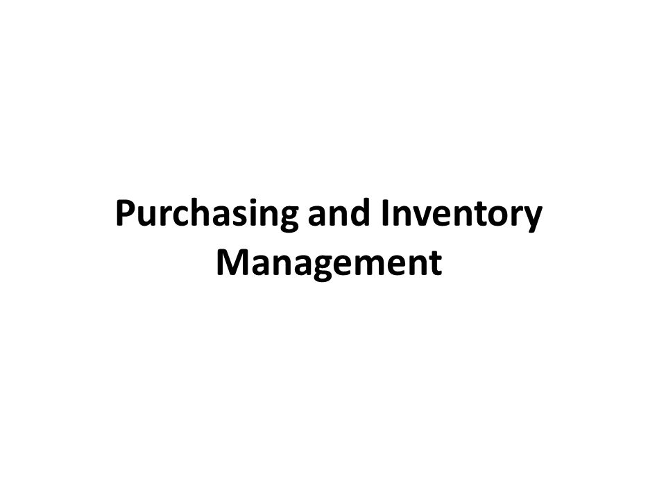 Inventory management means minimizing the investment in inventory while balancing supply & demand.