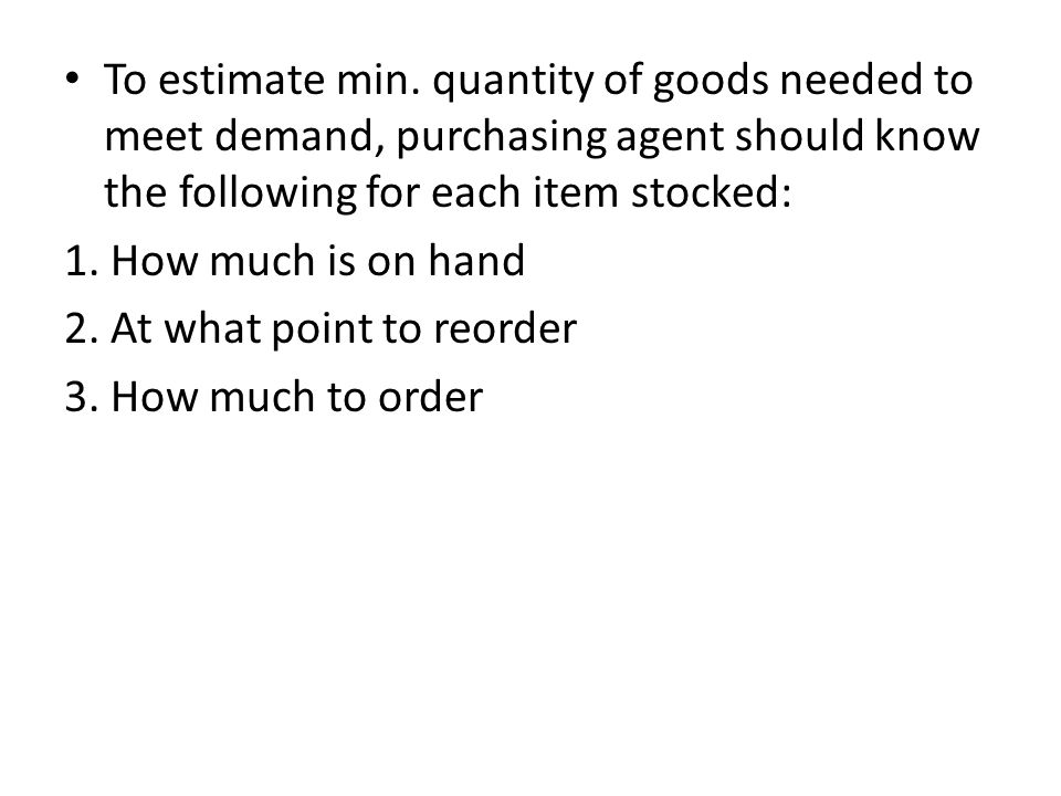 To determine stock depth (i.e., the point where it is reasonably certain that the item will be available on demand).