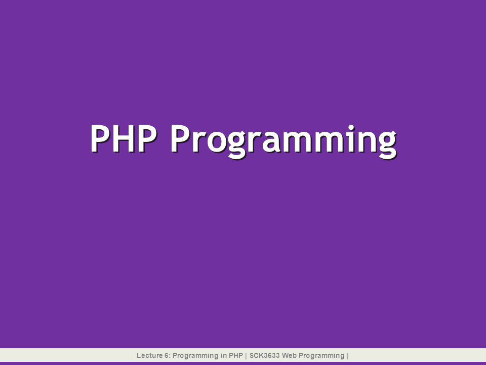 Logical Test Operators  PHP supports a set of logical test operators you can use to create compound test expressions used within an if statement or a while statement to specify more than one test condition  Logical test operators: 1.