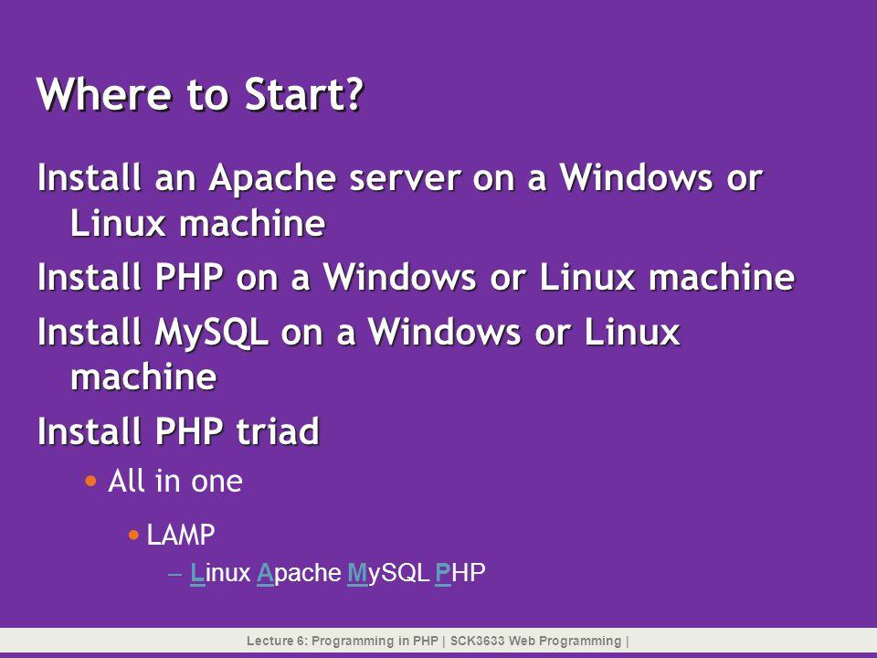 XAMPP for Windows Download xampp-win32-1.7.4-VC6- installer.exe from http://sourceforge.net Download xampp-win32-1.7.4-VC6- installer.exe from http://sourceforge.nethttp://sourceforge.net Double-click the.exe file you downloaded.