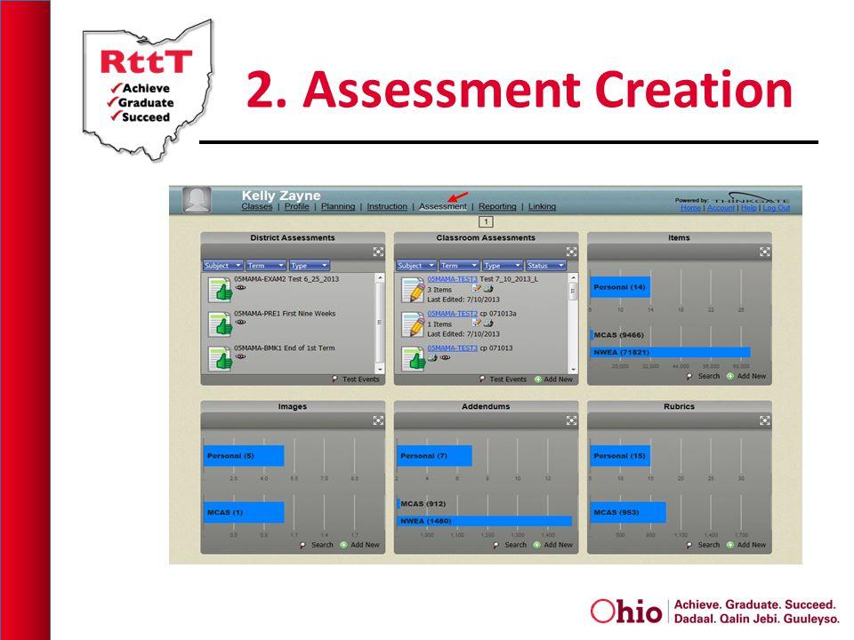 2. Assessment Creation