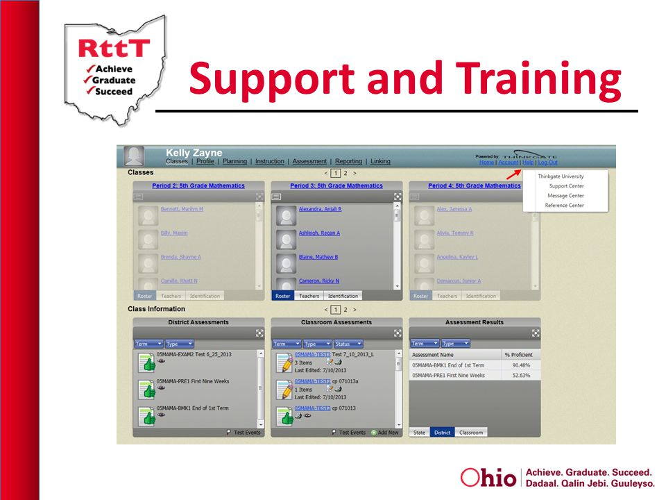 Support and Training