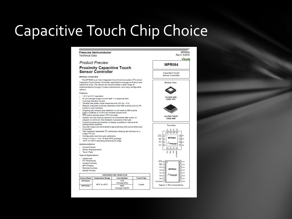 Capacitive Touch Chip Choice