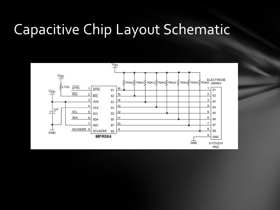 Capacitive Chip Layout Schematic