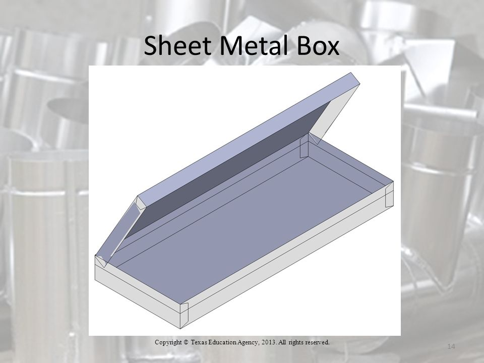Sheet Metal Box 14 Copyright © Texas Education Agency, 2013. All rights reserved.