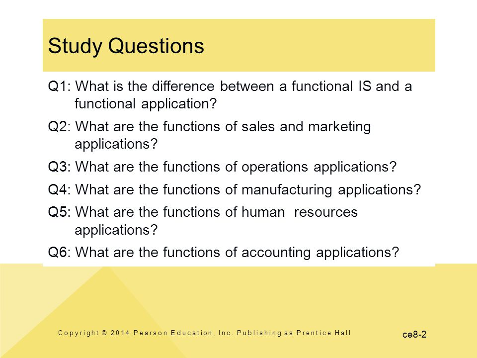 ce8-2 Study Questions Copyright © 2014 Pearson Education, Inc.