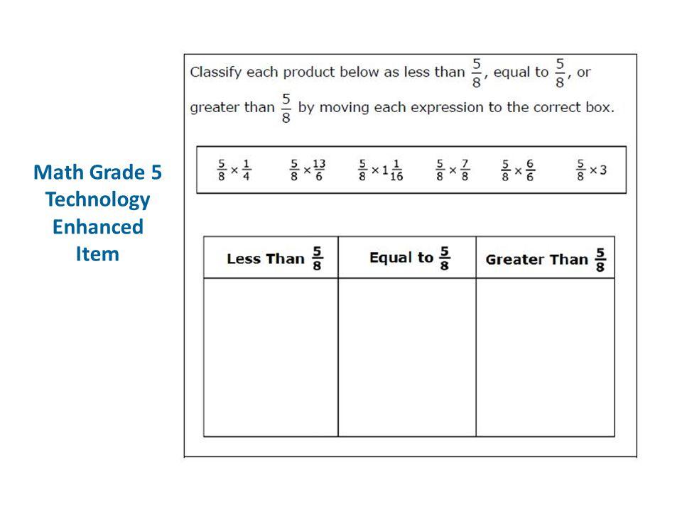 Math Grade 5 Technology Enhanced Item