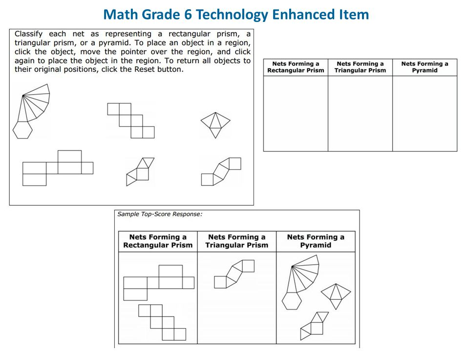 Math Grade 6 Technology Enhanced Item