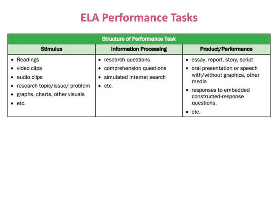 ELA Performance Tasks