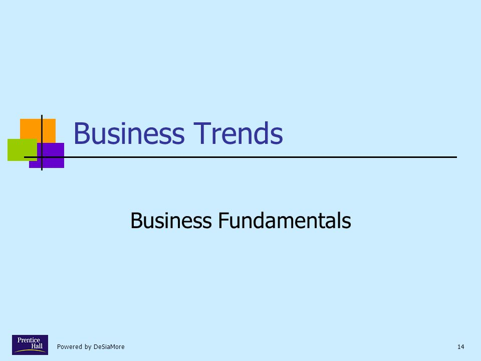 Powered by DeSiaMore14 Business Trends Business Fundamentals
