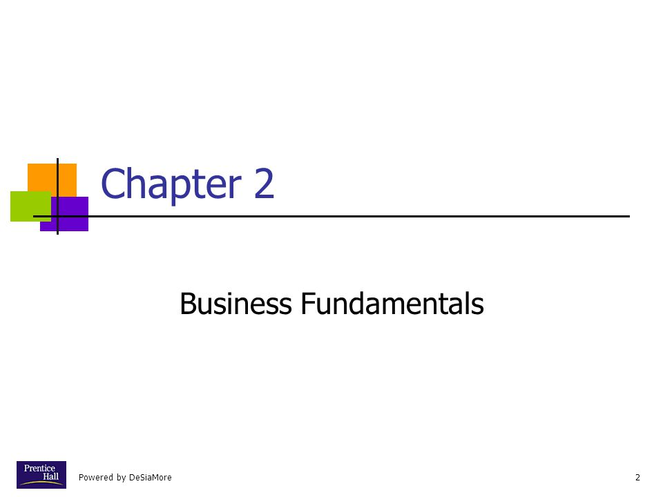 2 Chapter 2 Business Fundamentals
